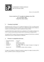 COMMISSION INTERNATIONALE DE SAUVETAGE ... - IKAR-CISA