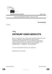 DE DE ***I ENTWURF EINES BERICHTS