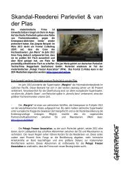 Factsheet Skandalfirma Parlevliet maerz13 - Greenpeace