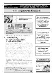 Anzeigen - Schleswig-Holsteinisches Ärzteblatt