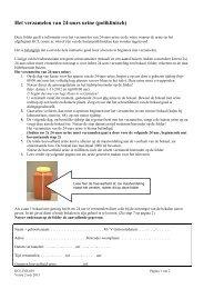 Instructie verzamelen van 24-uurs urine (poliklinisch)