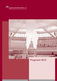 Programm 2013 - Ingenieurkammer-Bau Nordrhein-Westfalen