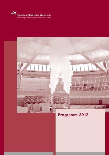 Programm 2013 - Ingenieurkammer-Bau NRW