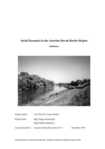 Social Dynamics in the Austrian Slovak Border Region - Institut für ...