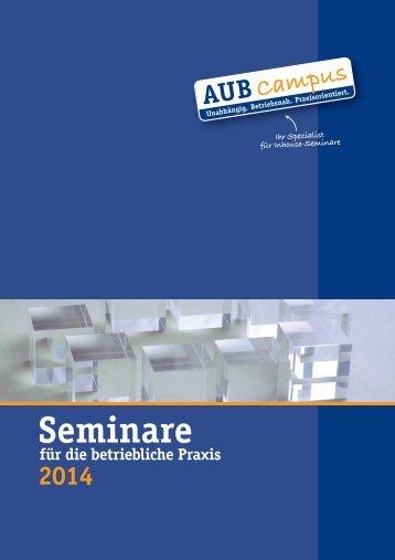 Seminarprogramms 2014 - Aub