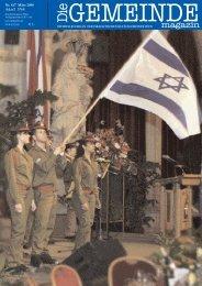 Maerz 2008 als pdf herunterladen - Israelitische Kultusgemeinde Wien