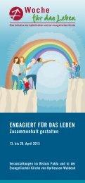 Woche für das Leben 2013 - Evangelische Kirche von Kurhessen ...