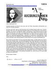 Augsburgerinnnen Info - Stadt Augsburg