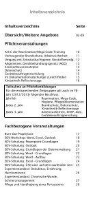 WEITERBILDUNG JAHRESPROGRAMM - AGAPLESION DIAKONIE ... - Page 4