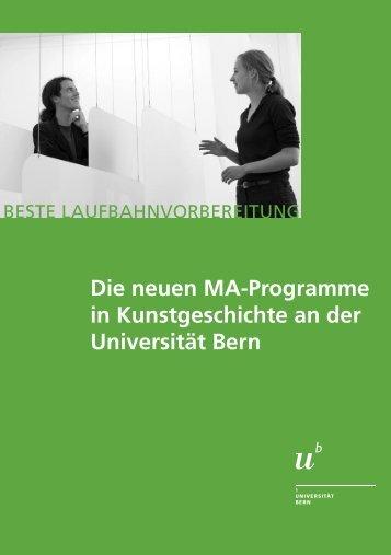 MA Flyer (pdf, 1.3 MB) - Institut für Kunstgeschichte - Universität Bern