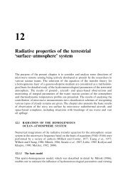 Radiative properties of the terrestrial `surface±atmosphere' system