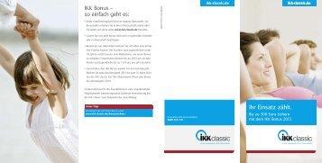 Bonusprogramm 2013 - IKK classic