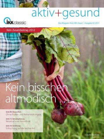 Kein Zusatzbeitrag 2012 - IKK classic