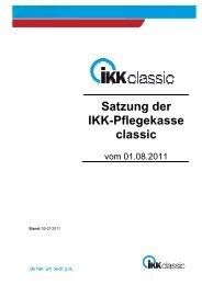 Satzung Pflegekasse - IKK classic