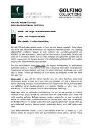 GOLFINO-Kollektionsbericht Kollektion Herbst|Winter 2013|2014 ...