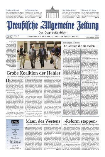 Preußische Allgemeine Zeitung lesen. Immer am Puls der Zeit.
