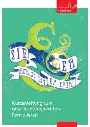 Sie & Er - nur so ist es fair, Broschüre zur ... - Stadt Nürnberg