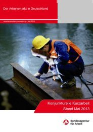 Konjunkturelle Kurzarbeit Stand Mai 2013 - Statistik der ...