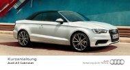 Kurzanleitung A3 Cabriolet - PDF (1 MB) - Audi