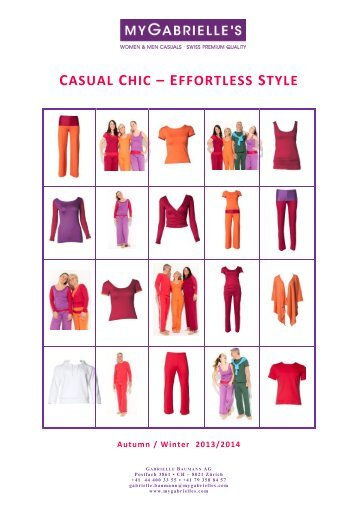 CASUAL CHIC – EFFORTLESS STYLE - Yoga by Gabrielle Baumann