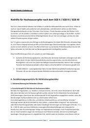 Nothilfe für Hochwasseropfer nach dem SGB II ... - Harald Thomé