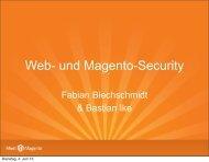 Web- und Magento-Security - Fabian Blechschmidt