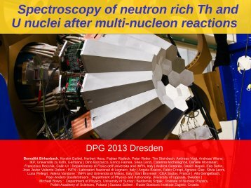 B. Birkenbach - HK 31.4 - Institute for Nuclear Physics - Universität ...