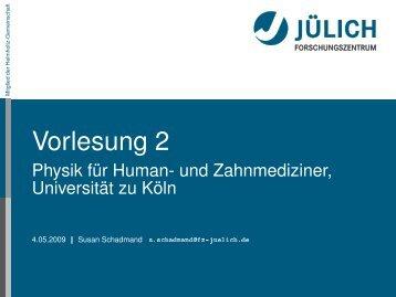 Vorlesung 2 - Universität zu Köln