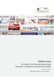 Ausgabe 23 (04.06.2013) - Der Deutsche Olympische Sportbund