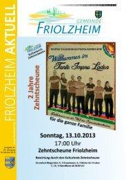 Blättle KW41 - Friolzheim