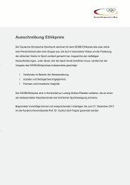 Vorschlagsformular - Der Deutsche Olympische Sportbund