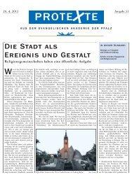 Ausgabe Nr. 53, April 2013 (PDF) - Evangelische Kirche der Pfalz