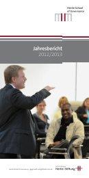 Jahresbericht 2012/2013 - Hertie School of Governance