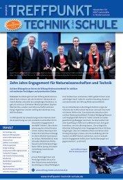 Ausgabe 04/2013 - Treffpunkt Technik in der Schule
