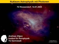 Nukleare Astrophysik mit Photonen - Institute for Nuclear Physics
