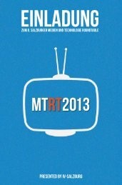 Einladung MTRT 2013 - IV Salzburg