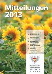 Mitteilungen 2013 (gesamt) - Goldenes Kreuz Privatklinik
