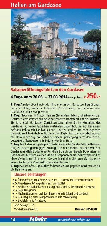 Mehrtagesfahrten 2014 - Jahnke Reisen
