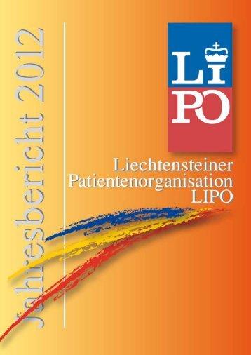 Jahresbericht 2012 - Liechtensteiner Patientenorganisation
