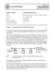Prüfung - Institut für Kommunikationsnetze und Rechnersysteme ...