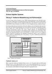 Übung 3 - Institut für Kommunikationsnetze und Rechnersysteme ...