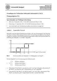 Informatik II, Teil 2 - Institut für Kommunikationsnetze und ...