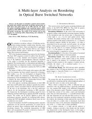 A Multi-layer Analysis on Reordering in Optical Burst Switched ...