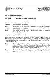Übung 5 Kommunikationsnetze I IP Adressierung und Routing