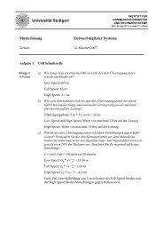 Musterlösung - Institut für Kommunikationsnetze und ...