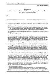 Schriftliche Einwilligung für Schüler/innen - Immanuel-Kant-Schule ...