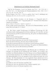 Aufgabenserie L1 zur Vorlesung ^Maschinelles Lernen^ 1.a ... - IKS