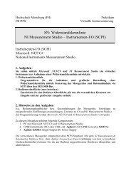 Widerstandskennlinie NI Measurement Studio - IKS - Hochschule ...