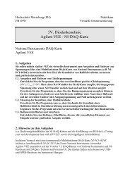 5V: Diodenkennlinie Agilent VEE - NI-DAQ-Karte - IKS - Hochschule ...