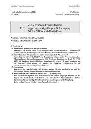 NI-DAQ-Karte - IKS - Hochschule Merseburg